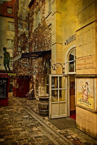Back alley in Regensburg, Germany.<br /> © Cindy Clark