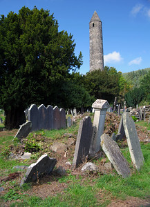 Tower and graves
