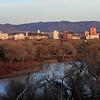 Rio Grande and downtown Albuquerque, NM