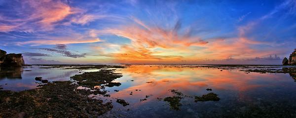 Uluwatu Reef at Sunset