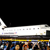The Endeavour Finallly Arrived at Crenshaw and MLK jr Streets after Hours of Waiiting