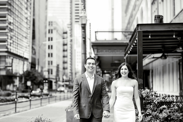 Leena and Daniel Engagement Session Downtown Houston