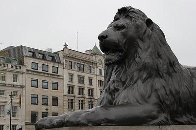 Trafalgar Square, London, England.