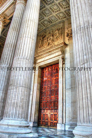 St. Paul's Cathedral front door, London, England.