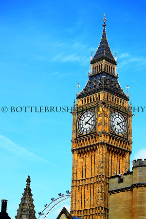 Elizabeth Tower housing Big Ben, London, England.