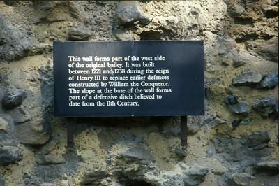 Descriptive sign on Wall of Original Bailey
