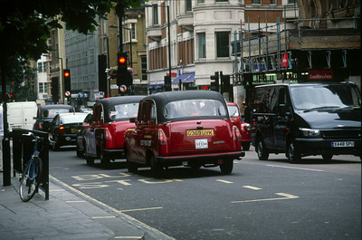 London's Red and Black Taxis