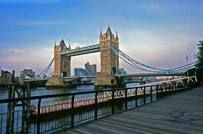 London Tower Bridge from Boardwalk