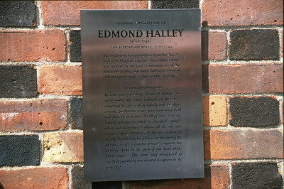 Edmond Halley Tomb Brass Placard