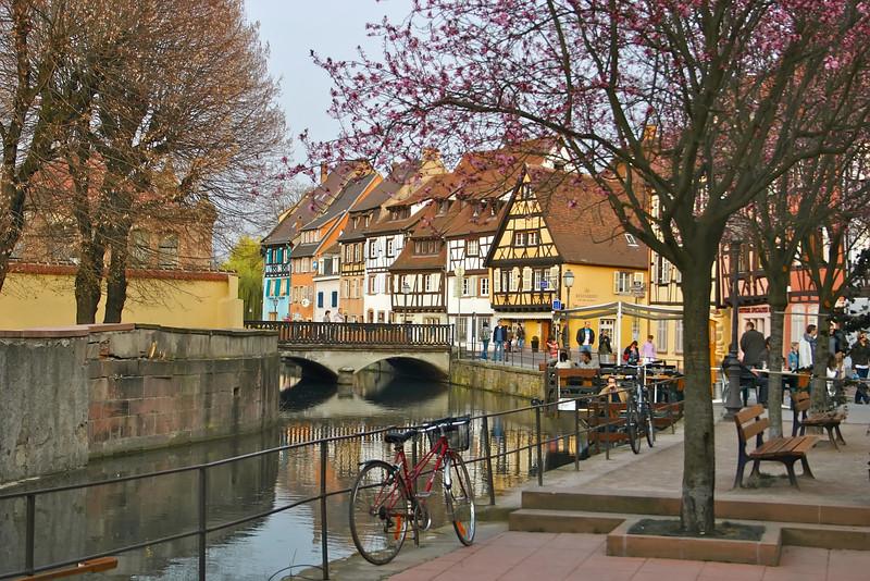 "Street scene in ""Little Venice""- Colmar, France"