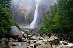 Lower Yosemite Falls during a rainstorm- Yosemite National Park, CA