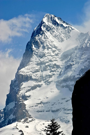 The Eiger viewed from Murren; Jungfrau region of Switzerland.