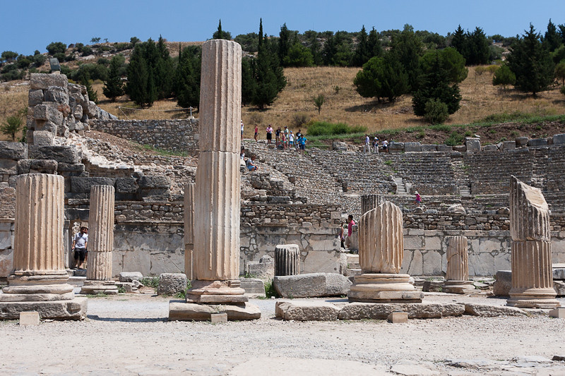The Odeon (rear) and a portion of the Stage Agora