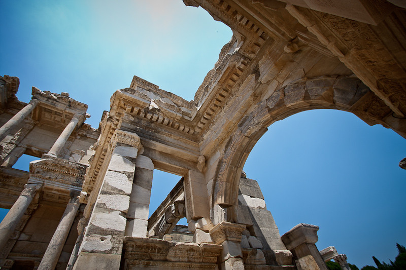 The Celsus Library (detail)
