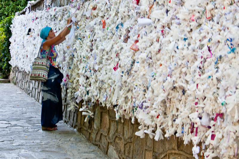 Wall of messages at the House of the Virgin Mary
