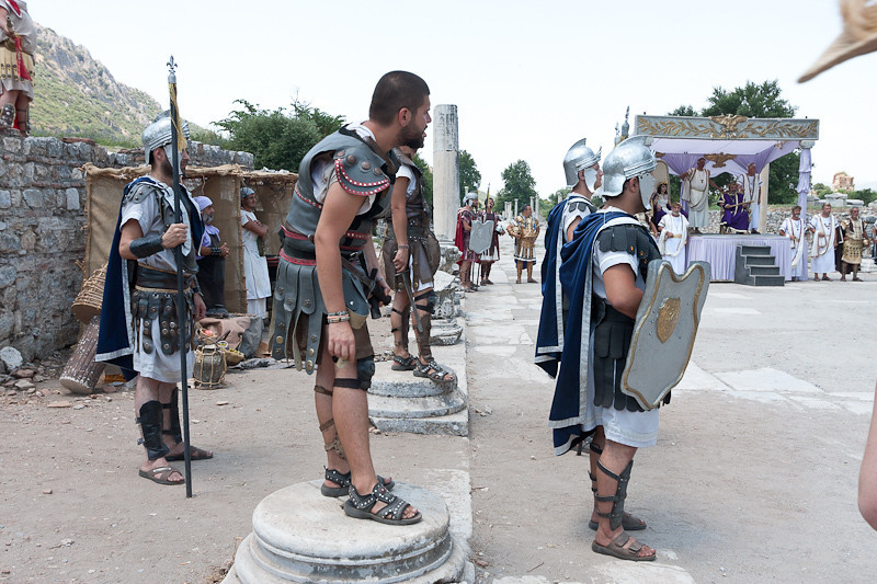 "The ""Roman Legion"", performance at Ephesus"