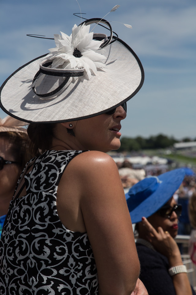 Epsom, Surrey, UK. 3rd June, 2017. Racegoers attend Epsom Derby