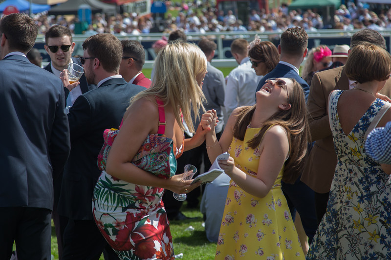 Epsom, Surrey, UK. 3rd June, 2017. Racegoers attend Epsom Derby