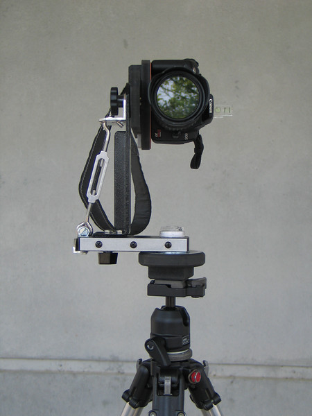 "I added the turnbuckle for added stability and to compensate for the weight of the camera. <a href=""http://gregwired.com/pano/pano.htm"">Panosaurus<a/>  panoramic fixture and ball head"