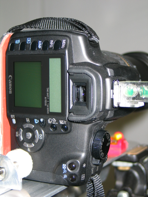 Back of camera with eyepiece protector. the LCD is not a viewfinder. It is only for reviewing the picture.