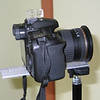 Light weight bracket for horizontal panoramas with Canon 40D and Tamron 11-18mm lens.