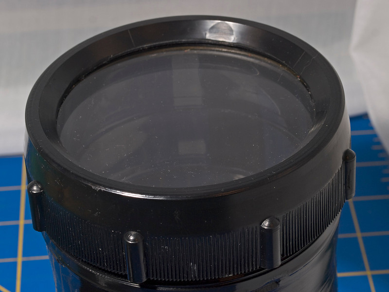 """Like-New Ikelite #5505.58 flat port for lenses less than 6.1"""" long. Just a little dust, but virtually no wear. Fits long zooms and macro lenses from Nikon, Canon, Sony, Olympus, Sigma, Tamron, Tokina and Minolta- $95 ($150 MSRP, $141 retail)"""