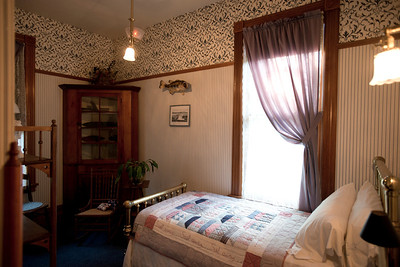 North America, USA, Illinois, Oak Park, Bedroom of   Ernest Hemmingway Birth Home