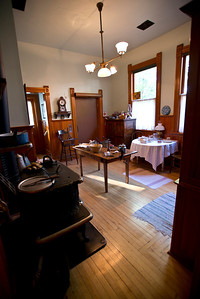 North America, USA, Illinois, Oak Park, Kitchen of  Ernest Hemmingway Birth House