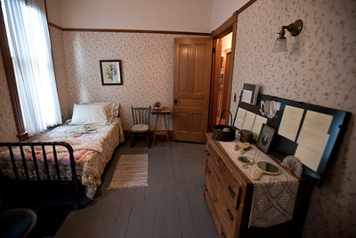 North America, USA, Illinois, Oak Park, Servant's Bedroom of  Ernest Hemmingway Birth Home