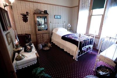North America, USA, Illinois, Oak Park, Master Bedroom of  Ernest Hemmingway Birth Home