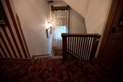 North America, USA, Illinois, Oak Park, stairway to second Level in  Ernest Hemmingway Birth House