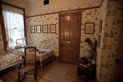 North America, USA, Illinois, Oak Park, Children's Bedroom of  Ernest Hemmingway Birth Home