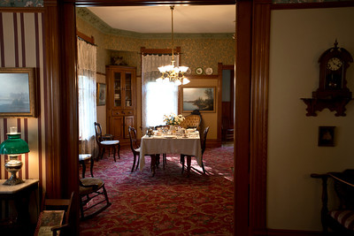 North America, USA, Illinois, Oak Park, Dining Room from Living Area  of   Ernest Hemmingway birth home