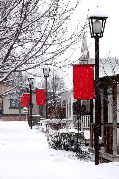 Gardner Village Snowfall <br /> © Faye Leslie
