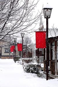 Gardner Village Snowfall  © Faye Leslie