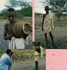 Afar boys (top), Rabbi Waldman's photograph of Andrew Goldman Photographing Afar boy (bottom)