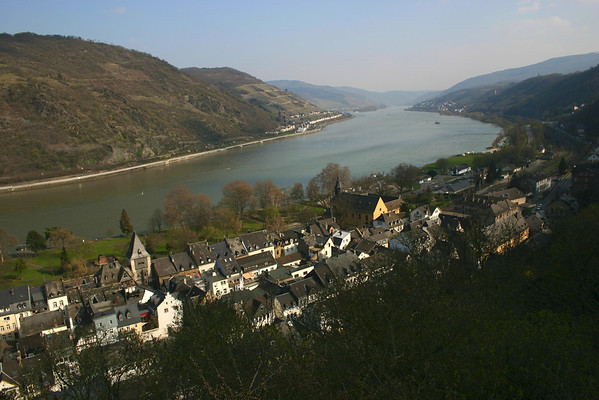 Rhine River from above Bacharach