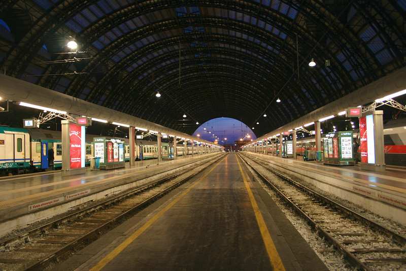 Milan Central Station at 6:00 a.m.
