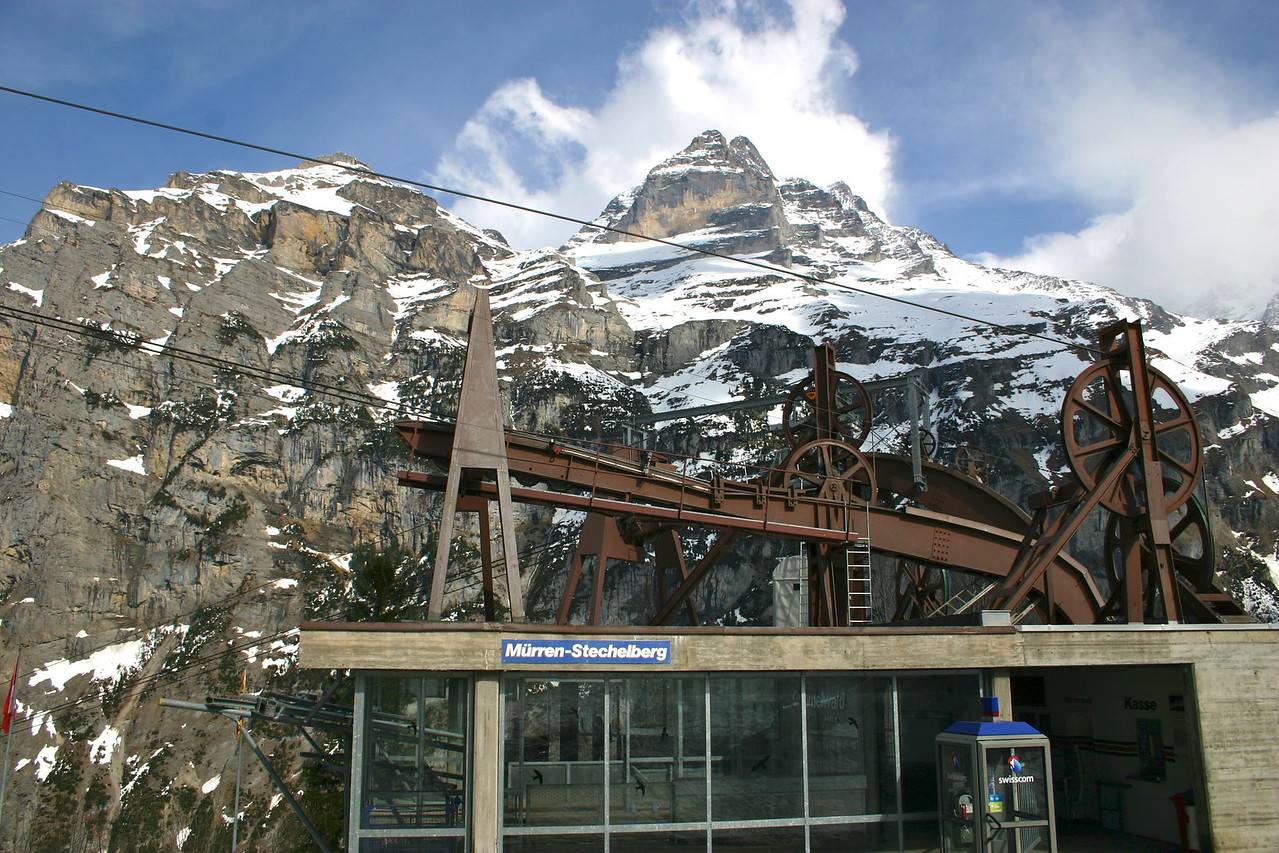 Gimmelwald cable car station
