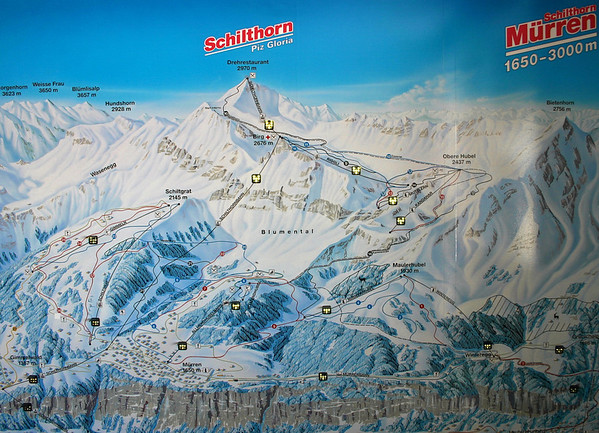 Map of Jungfrau region lifts