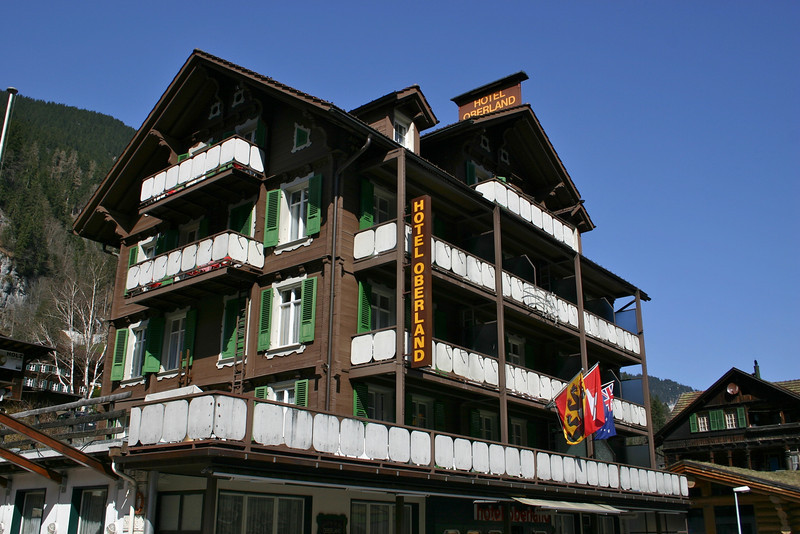 Hotel Oberland (our hotel)