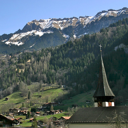 view from Lauterbrunnen