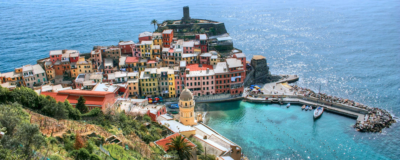 Vernazza, Italy panorama shot. Special panoramic print sizes available!