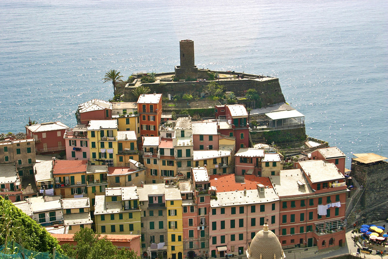 view from above Vernazza
