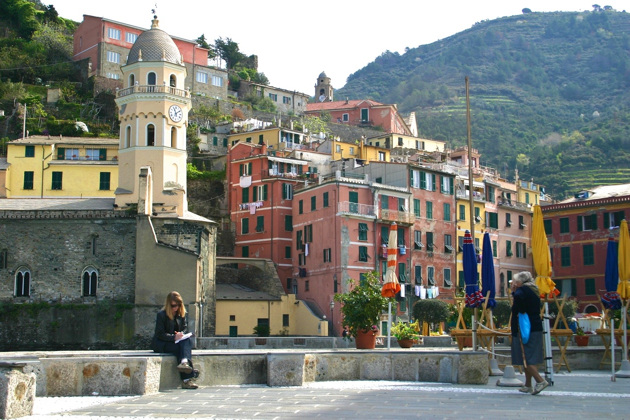 more Ellen enjoying Vernazza