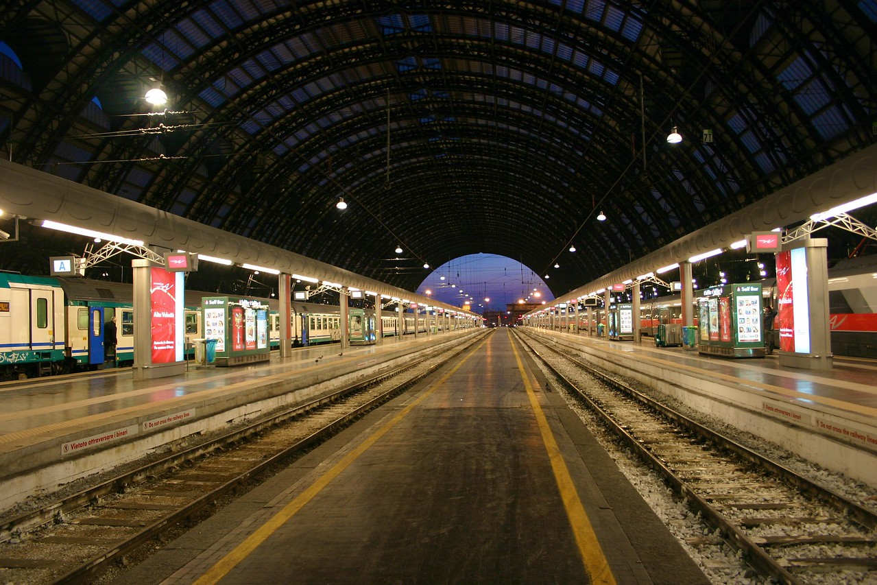 Milan Central Station at 6:00 a m