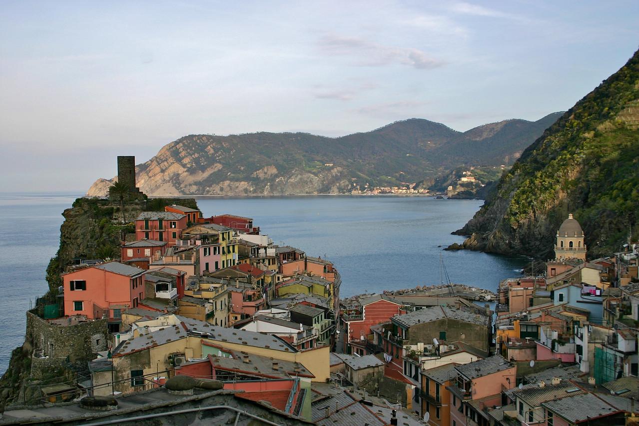 Vernazza from trail to Corniglia