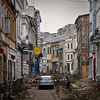 There were a lot of streets being completely torn up like this in Bucharest, most likely as the start of efforts to restore the city's former beauty that was ruined by communist reforms. <br /> March 2011