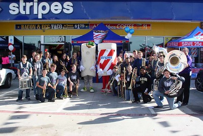 CSMS Band at Stripes Grand Opening 12/09/2015