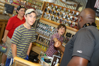 Professional Angler Ish Monroe visits Natures Tackle Box in Hiram Georgia after fishing a tournament near by. Photography By Lloyd Kenney III (C) 2012 All Rights reserved.